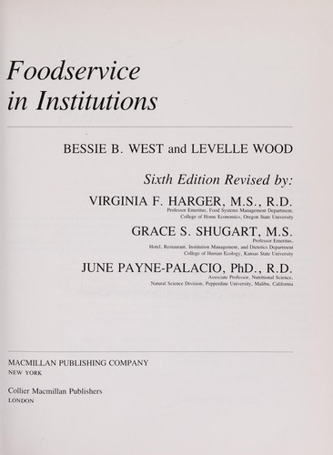 Foodservice in Institutions