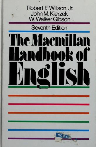The MacMillan Handbook of English