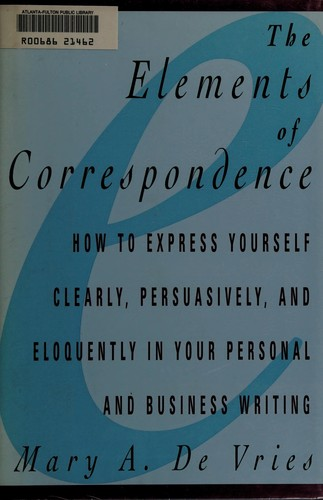 The Elements of Correspondence