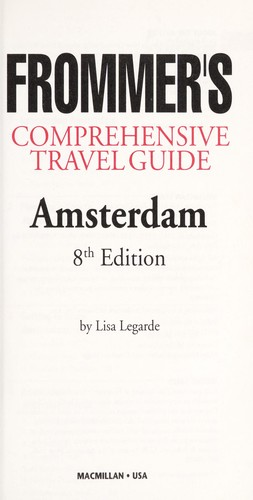 Frommer's City Guide to Amsterdam