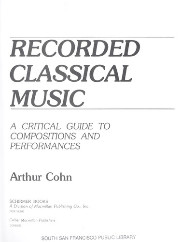 Recorded Classical Music