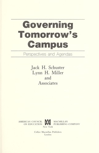 Governing Tomorrow's Campus