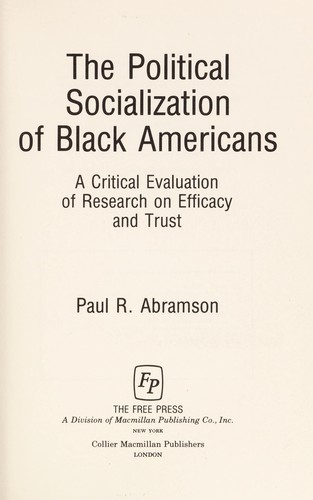 The Political Socialization of Black Americans