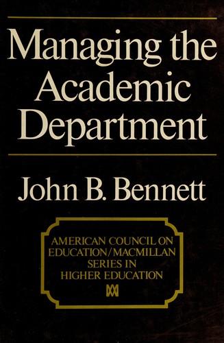 Managing the Academic Department