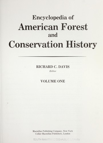 Encyclopedia of American Forest and Conservation History