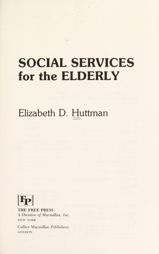 Social Services for the Elderly