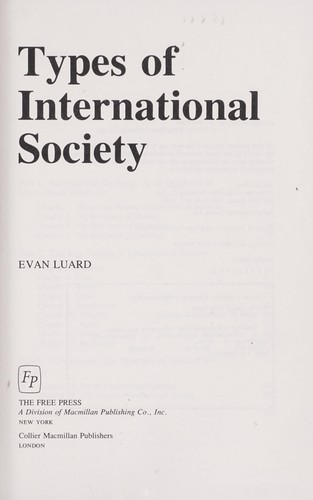Types of International Society
