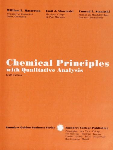 Chemical Principles with Qualitative Analysis