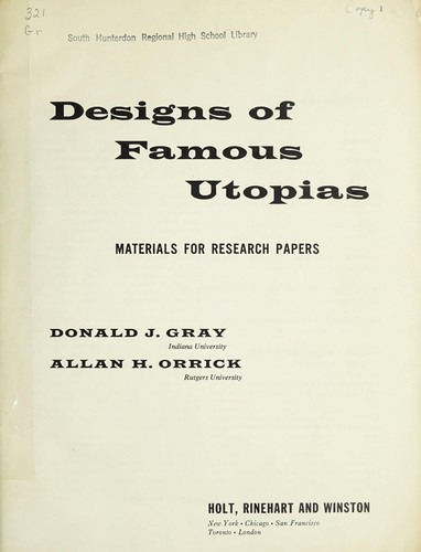 Designs of Famous Utopias