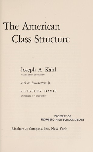 The American Class Structure