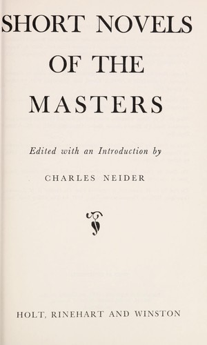 Short Novels of the Masters
