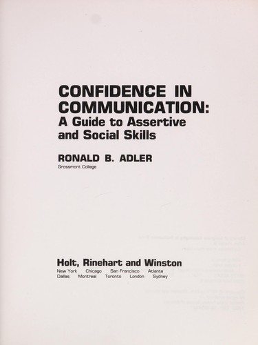 Confidence in Communication