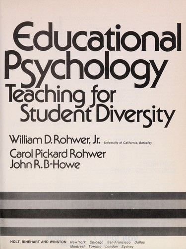 Educational Psychology, Teaching for Student Diversity