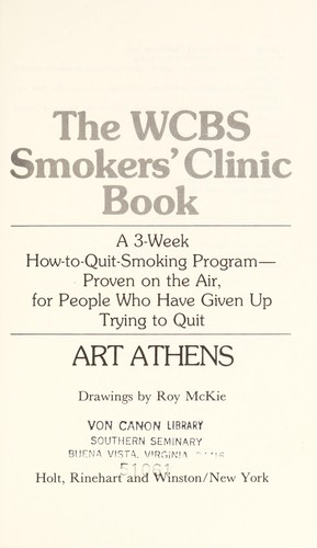 The Wcbs Smokers' Clinic Book