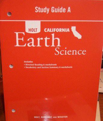 Study Guide a CA Sci 2007 Earth