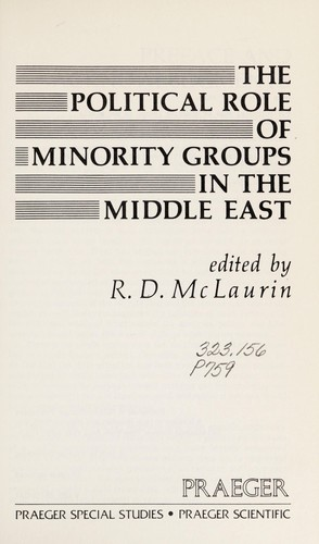 The Political Role of Minority Groups in the Middle East