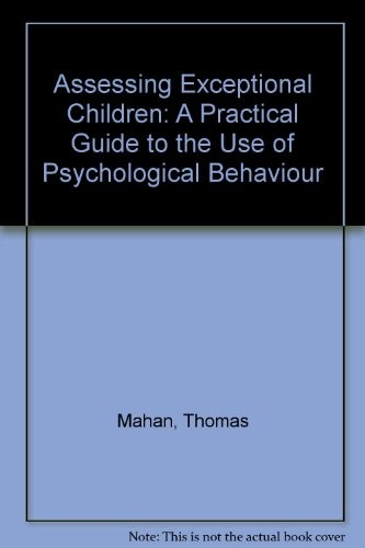 Assessing Children with Special Needs