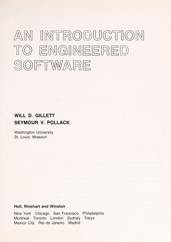 An Introduction to Engineered Software