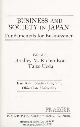 Business and Society in Japan