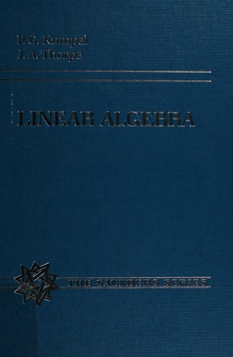 Linear Algebra, with Applications to Differential Equations