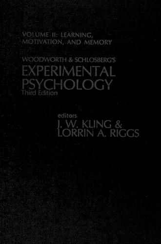 Woodworth & Schlosberg's Experimental Psychology