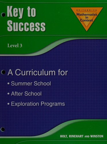 Holt Math in Context: Key to Success