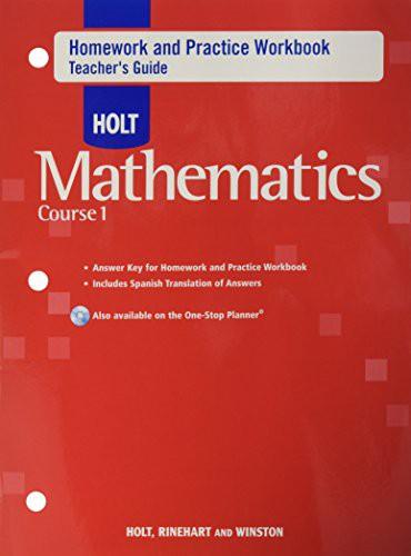 Hmwk/Prac Wkbk Te Holt Math CS 1 2007