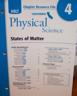 Crf Ch #4 Holt California Sci 2007 Phys