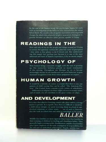 Readings in the Psychology of Human Growth and Development