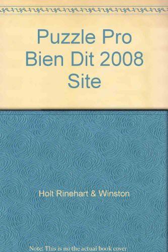 Puzzle Pro Bien Dit 2008 Site