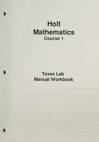 TX Lab Manual T/G Holt Math 2007 C1