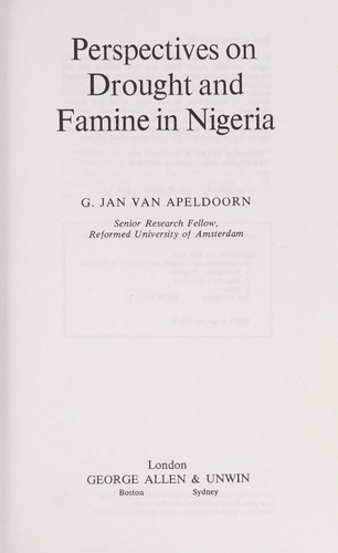 Perspectives on Drought and Famine in Nigeria