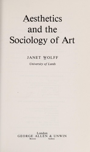 Aesthetics and the Sociology of Art
