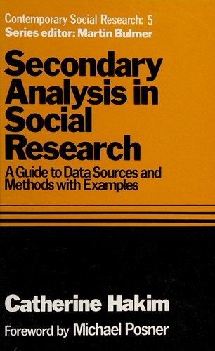Secondary Analysis in Social Research