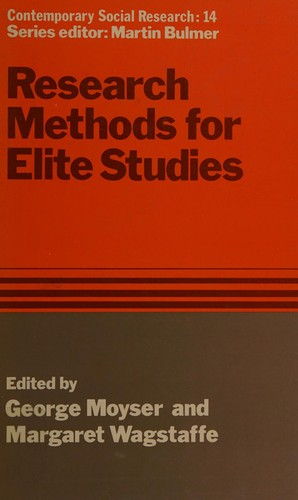 Research Methods for Elite Studies
