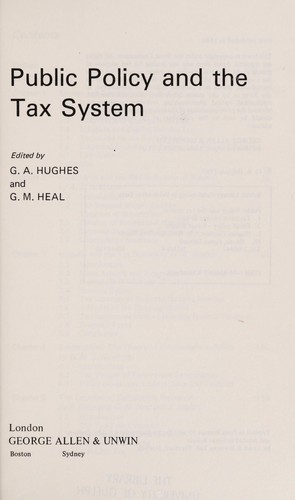 Public Policy and the Tax System