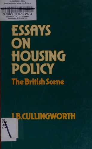 Essays on Housing Policy