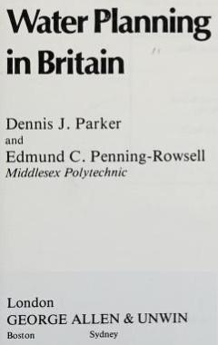 Water Planning in Britain