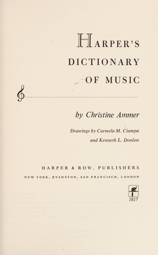 Harper's Dictionary of Music