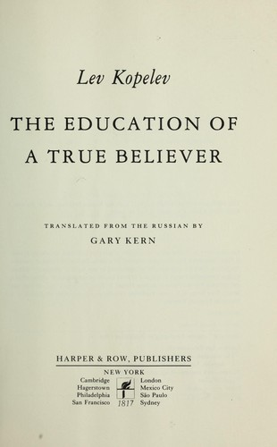 The Education of a True Believer