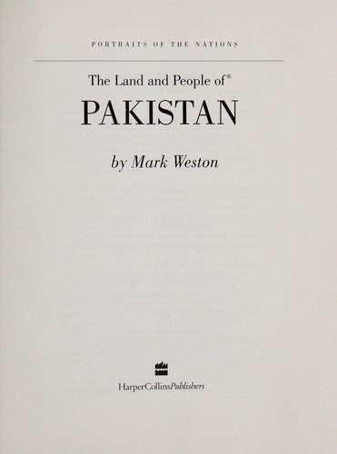 The Land and People of Pakistan