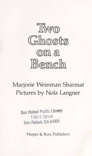 Two Ghosts on a Bench