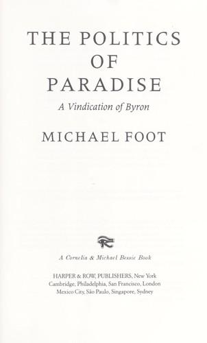 Politics of Paradise