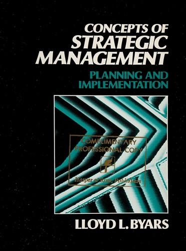 Concepts of Strategic Management
