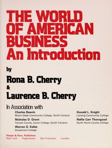 The World of American Business