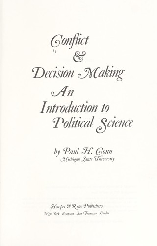 Conflict & Decision Making