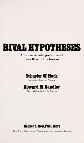 Rival Hypotheses