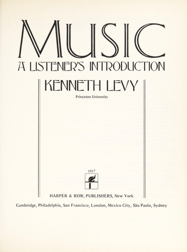 Music, a Listener's Introduction