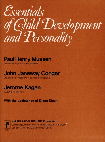 Essentials of Child Development and Personality
