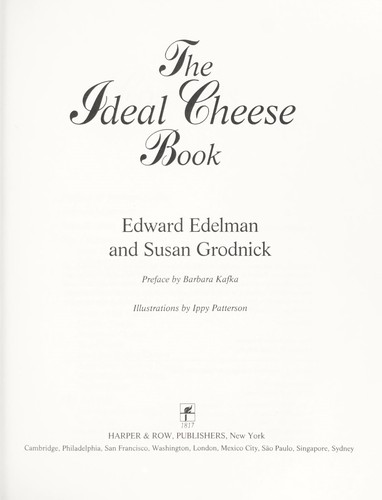 The Ideal Cheese Book